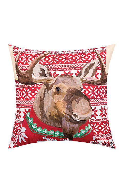 Ugly Sweater Moose Indoor/Outdoor Pillow