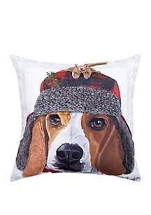 Winter Hat Beagle Indoor/Outdoor Pillow