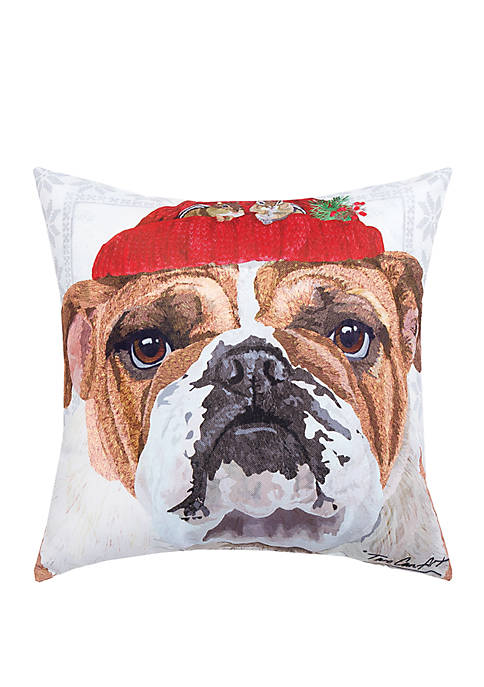 C&F Bull Dog Indoor/Outdoor Pillow