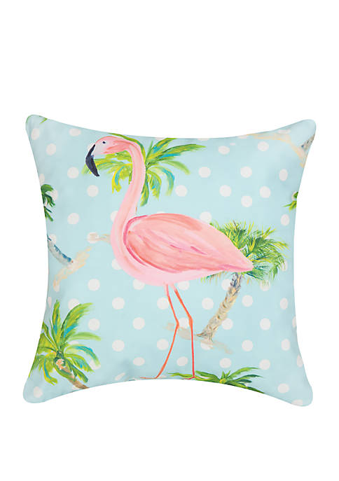C&F Palm Beach Flamingo Pillow