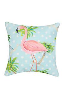 Palm Beach Flamingo Pillow