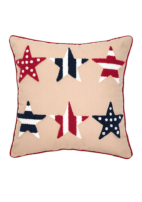 C&F Multi Star Decorative Pillow