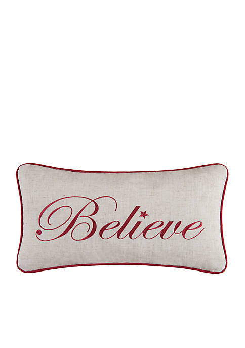C&F Believe Throw Pillow