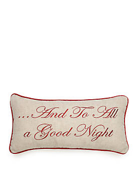 Pinewood Grove Goodnight Square Pillow 10-in. x 19-in.