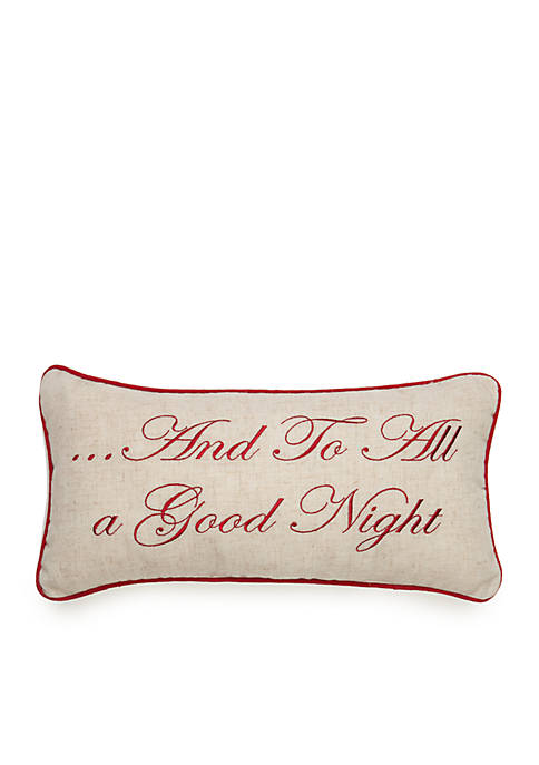 C&F Pinewood Grove Goodnight Square Pillow 10-in. x