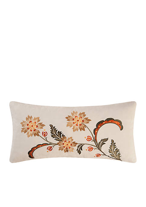 C&F Angelina Embroidered Floral Pillow