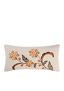 Angelina Embroidered Floral Pillow