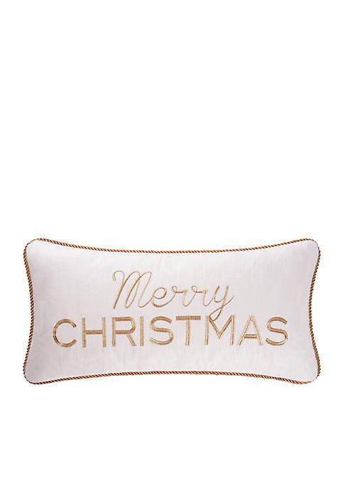 C&F Merry Christmas Throw Pillow