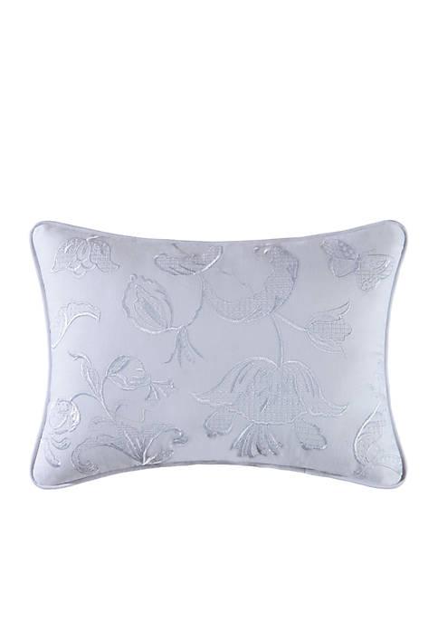 C&F Eliza Lace Blue Throw Pillow