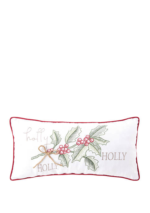 C&F Home Winter Holly Pillow