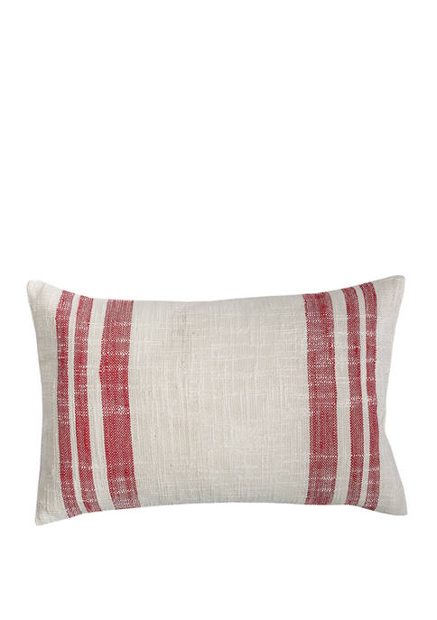 Carol & Frank Morgan Crimson Pillow