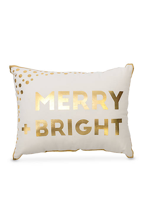 Glam Merry & Bright Decorative Pillow