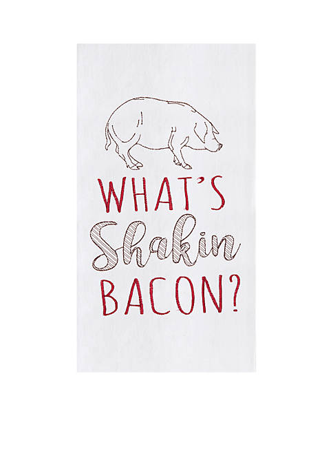 C&F Whats Shakin Bacon Flour Sack Kitchen Towel