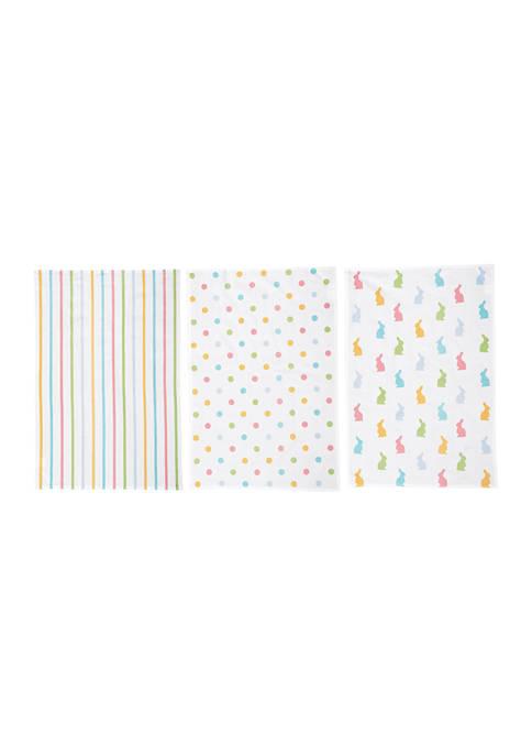 C&F Set of 3 Bunny Kitchen Towels