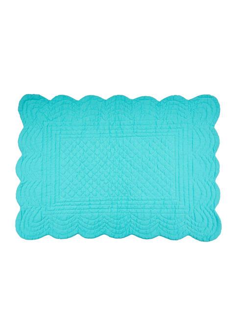 C&F Aqua Scallop Placemat