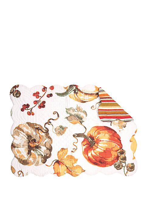 C&F Pumpkin Watercolor Placemat