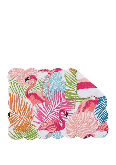 C&F Home Tropical Flamingo Reversible Place Mat