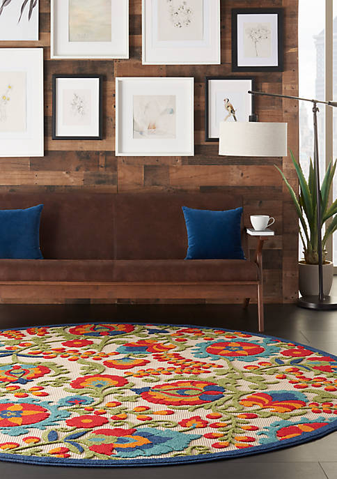 Aloha 7 ft 10 in x 7 ft 10 in Area Rug