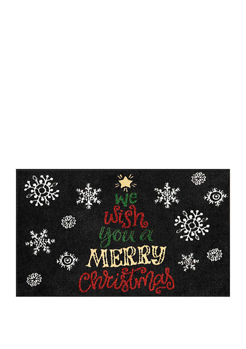 Nourison Holiday Printed Rug We Wish You a