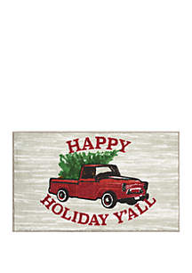 Happy Holiday Yall Accent Rug