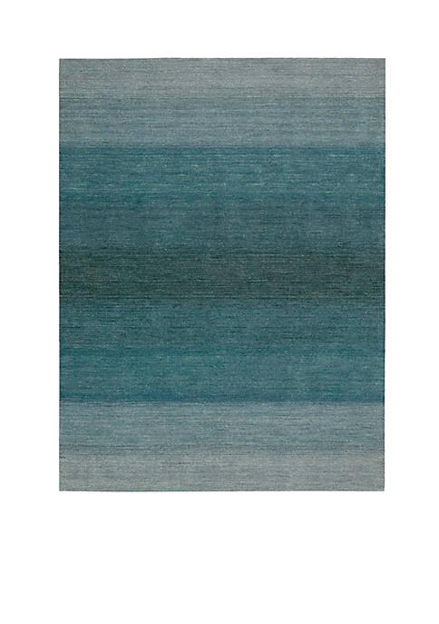 Nourison Linear Glow Aqua Area Rug 6 x