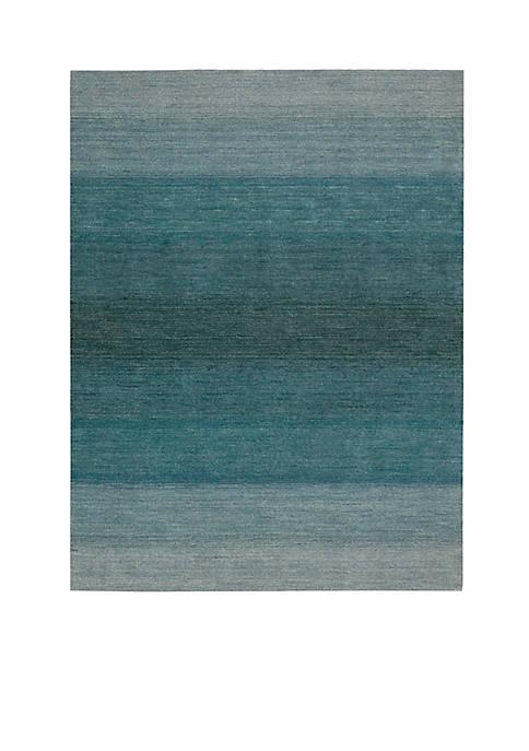 "Nourison Linear Glow Aqua Area Rug 75"" x"