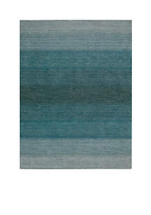 Linear Glow Aqua Area Rug - Online Only