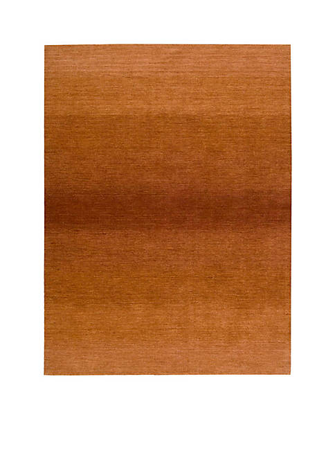 "Nourison Linear Glow Cumin Area Rug 76"" x"