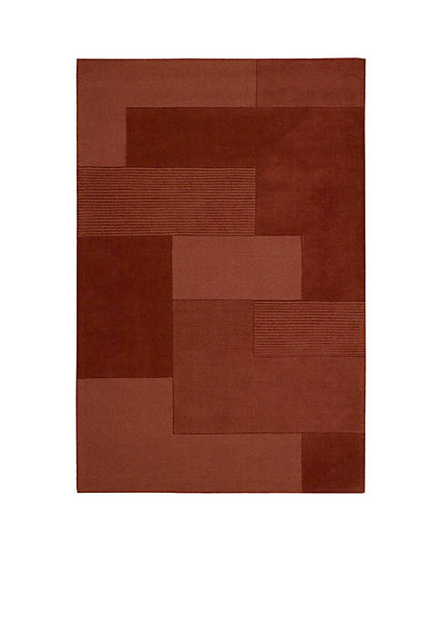 "Grid Paprika Area Rug 4 x 26"""