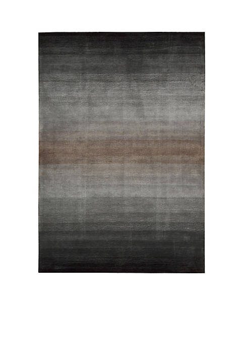 "Nourison Contour Grey Area Rug 93"" x 73"""