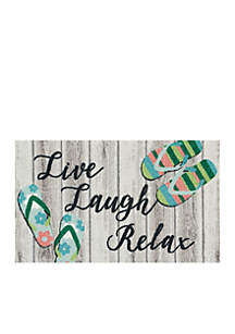 Live Laugh Relax Welcome Mat