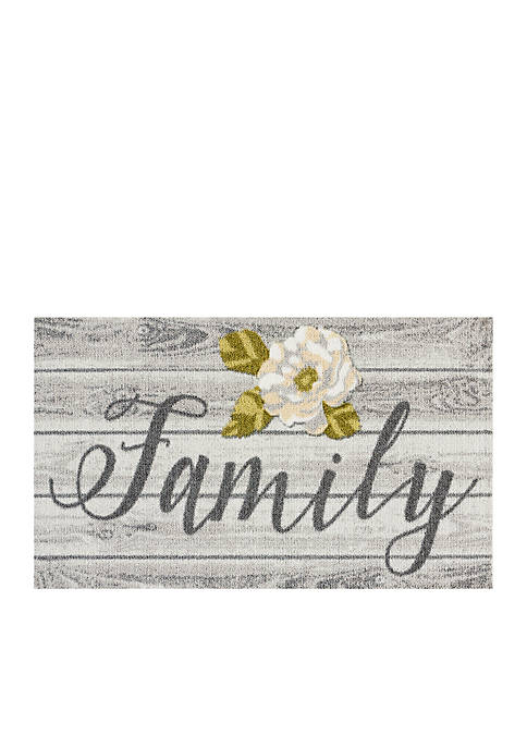 Nourison Family Welcome Mat