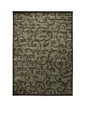 "Expressions Vines Brown Area Rug 29"" x 2"