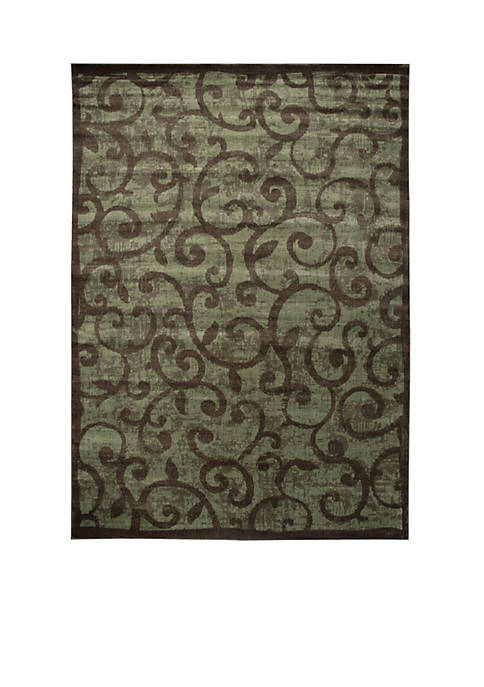 "Nourison Expressions Vines Brown Area Rug 29"" x"