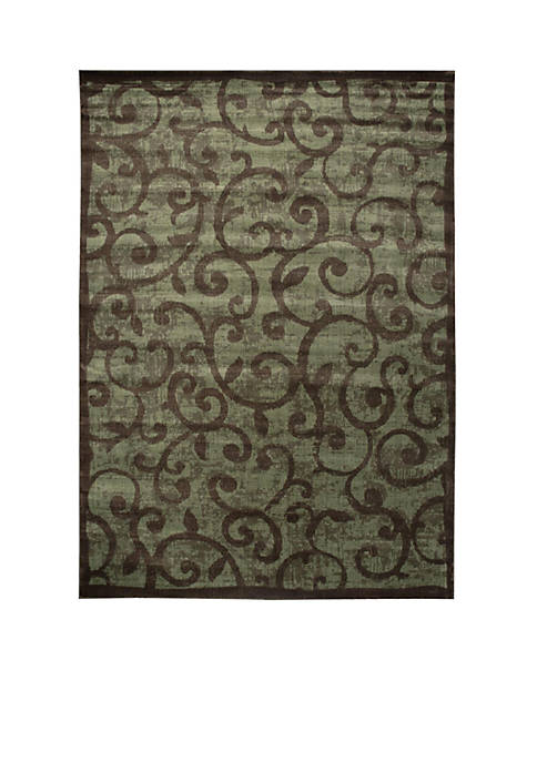 "Expressions Vines Brown Area Rug 56"" x 36"""