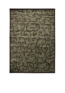 Expressions Vines Brown Area Rug 5'6\