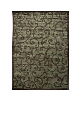 "Expressions Vines Brown Area Rug 75"" x 53"""