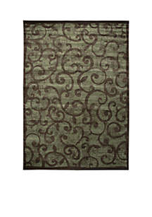 Expressions Vines Brown Area Rug - Online Only