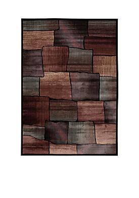 """Expressions Brick Multicolor Area Rug 59"""" x 2"""