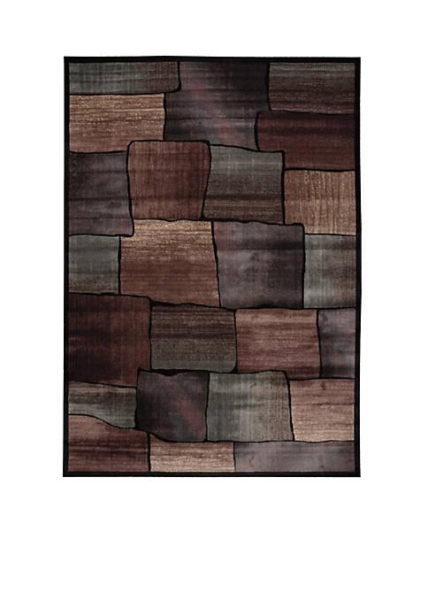 """Expressions Brick Multicolor Area Rug 56"""" x 36"""""""