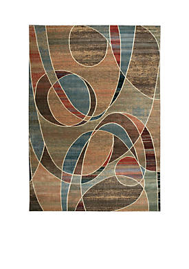 "Expressions Circles Multicolor Area Rug 29"" x 2"