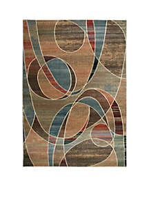 Expressions Circles Multicolor Area Rug 2'9\