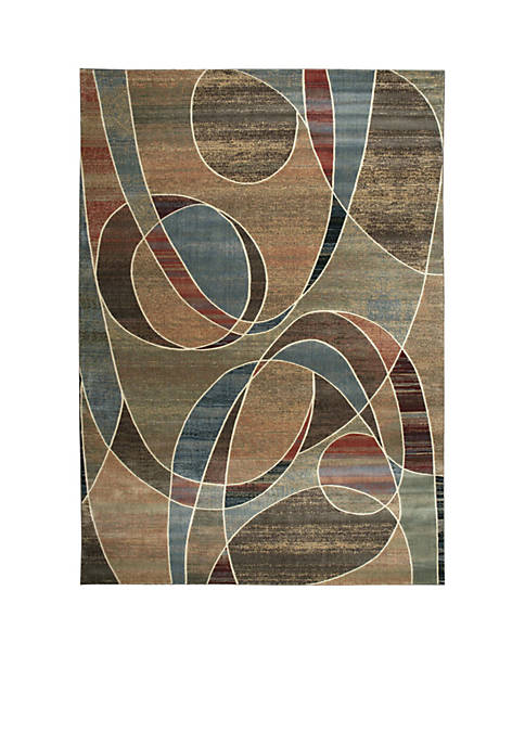 Expressions Circles Multicolor Area Rug 2 x 3