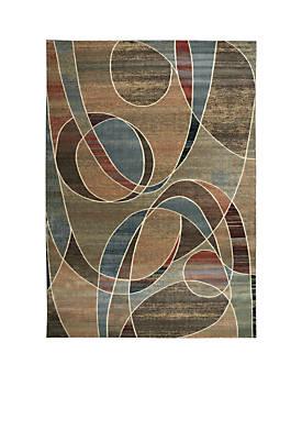"Expressions Circles Multicolor Area Rug 59"" x 2"