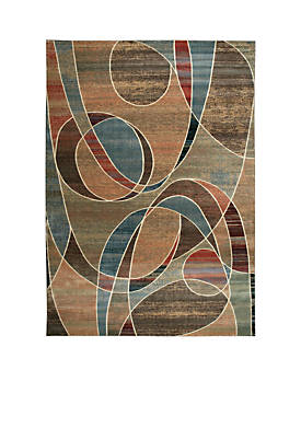 "Expressions Circles Multicolor Area Rug 136"" x 96"""