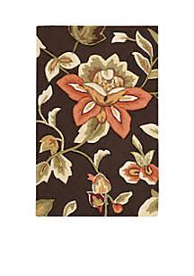 Fantasy Chocolate Lush Floral Area Rug 2¿9¿ x 1¿9¿