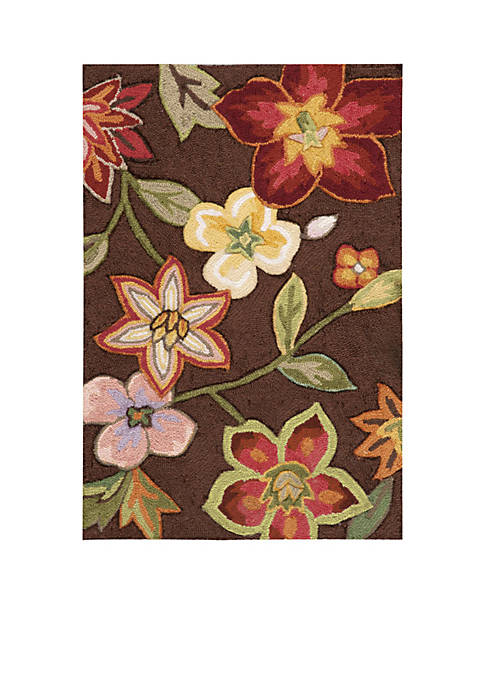 Nourison Fantasy Chocolate Elegant Bouquet Area Rug 29""