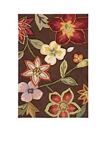 Fantasy Chocolate Elegant Bouquet Area Rug 2'9\