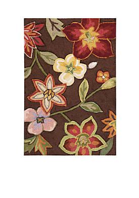 """Fantasy Chocolate Elegant Bouquet Area Rug 56"""" x 36"""""""