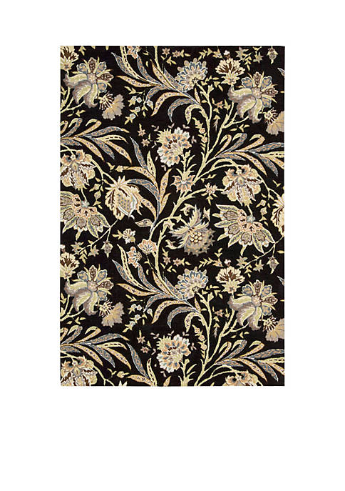 "Gatsby Black Area Rug 76"" x 5"